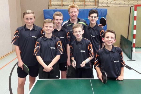 Jugendmannschaft mit Christian Süß